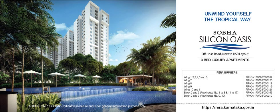 SOBHA Silicon Oasis(POSSESSION:JUL-2020)